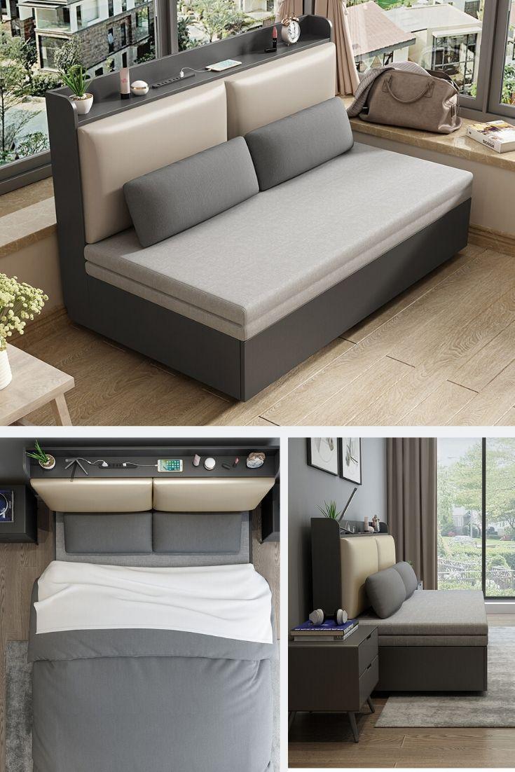 Pin by মেঘলা আকাশ on mahim (2020) Sofa bed guest room