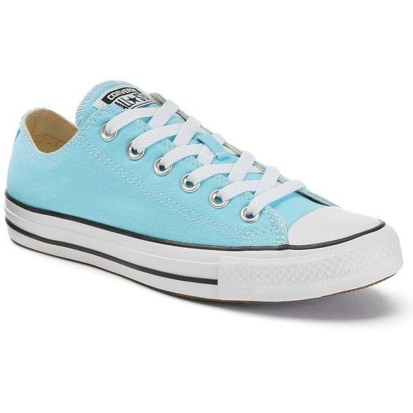 Adult Converse All Star Chuck Taylor Sneakers (€52) ❤ liked on Polyvore featuring shoes, sneakers, light blue, converse sneakers, grip trainer, print shoes, lace up sneakers and print sneakers