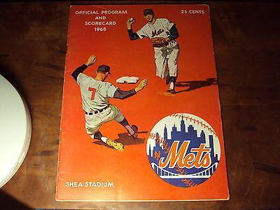 1968 New York Mets Game-Scored Program NR-MINT Koosman Clemente Ryan Seaver Agee