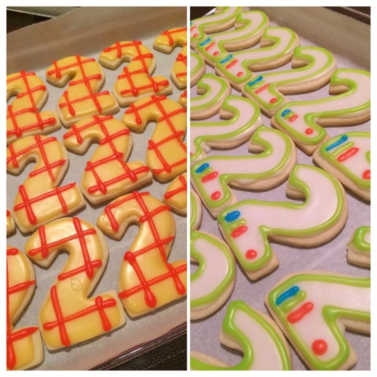 Woody and Buzz Light Year 2 cookies