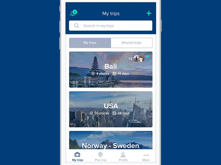 Travolly app design by Dylan Brouwer