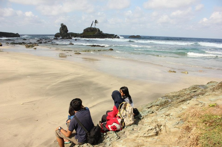 Permisan Beach, Hindia Ocean Offshore, Indonesian Alcatraz, Nusakambangan Island, Indonesia