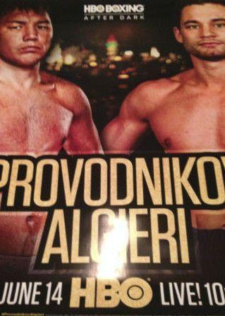 Provodnikov vs. Algieri 2014 poster print HBO Boxing after dark 6/14/2014