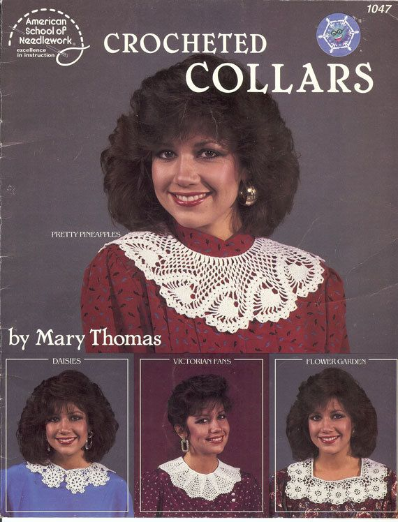 Vintage 1986 Crocheted Collars by Mary Thomas Booklet by NookCove, $12.00