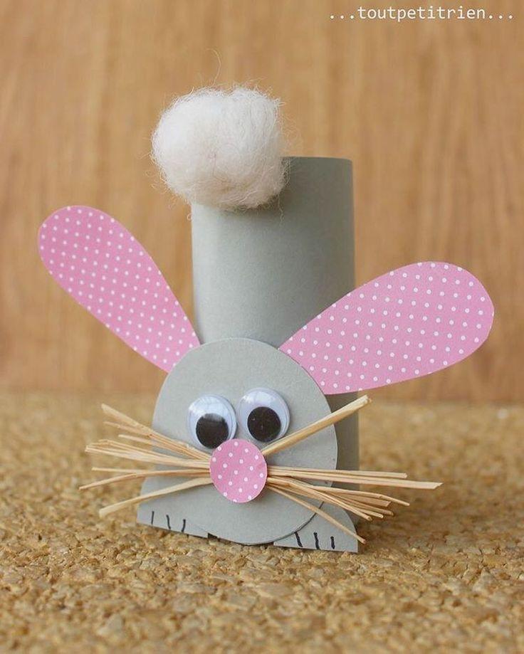 Toalettrullar! Så himla roligt, billigt, miljövänligt och kreativt. Finns många fördelar med att skapa från toalettrullar.  Denna kanin va så otroligt söt.  Bild: Pinterest