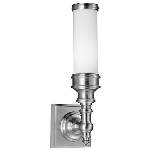 Small, narrow bathroom sconce. Backplate: Width 4.5 ... on Height Of Bathroom Sconce Lights id=31886