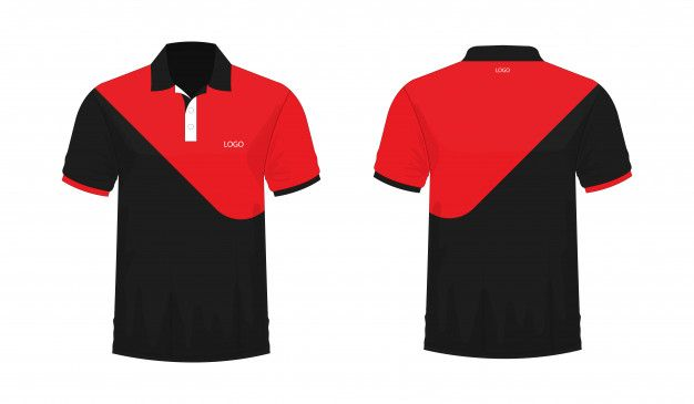 Download T Shirt Polo Red And Black Template For Design On White Background Vector Illustration Eps 10 Premium V Polo Shirt Design T Shirt Design Template Polo Design