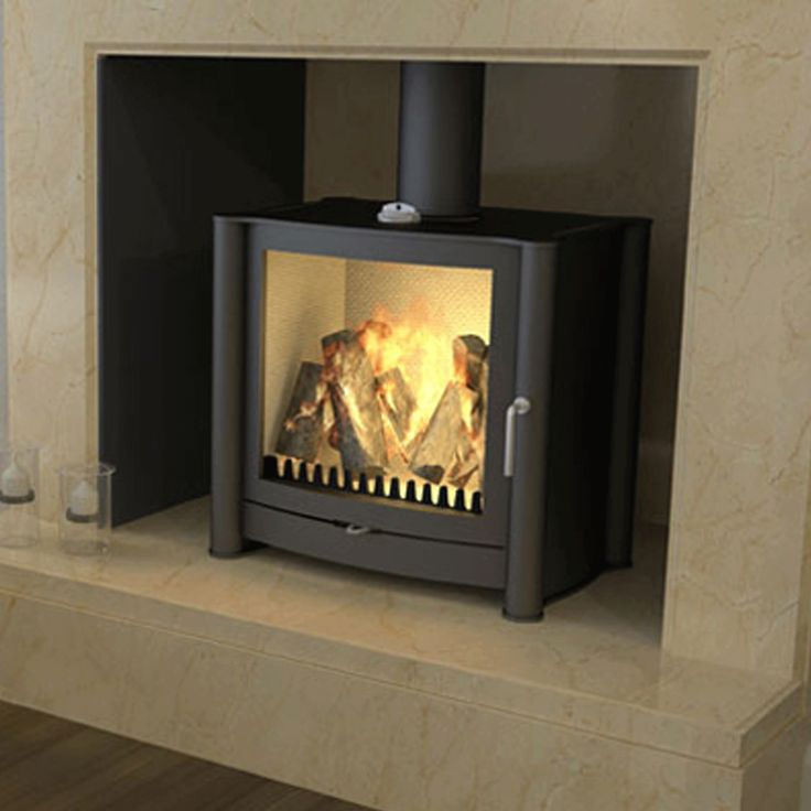 Firebelly FB2 is a designer wood burning stove ideal for larger rooms due to its powerful heating performance and larger dimensions. Bell: EST 1898.