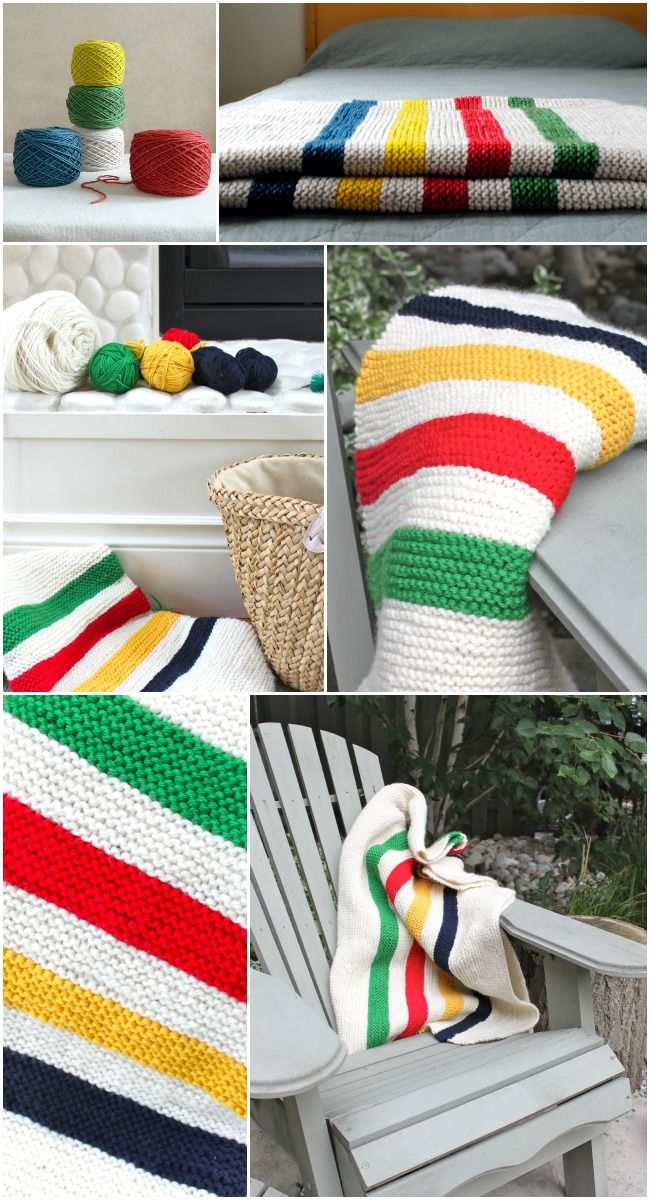 Knitting Pattern For Hudson Bay Blanket : 200 best