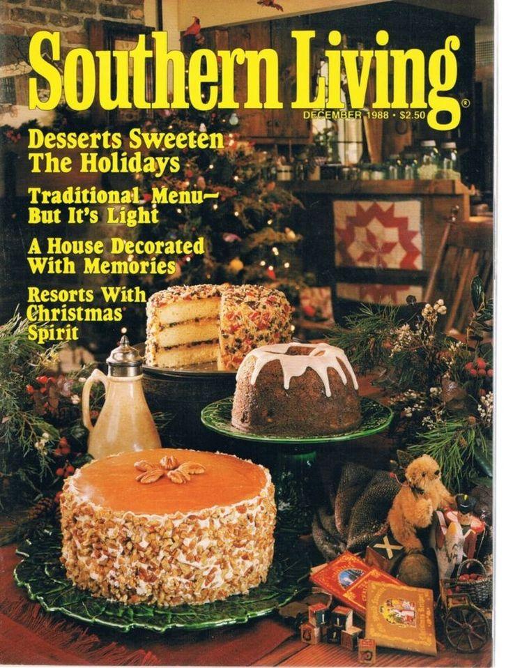 SOUTHERN LIVING December 1988 Christmas Holiday Desserts Light Traditional  Menu