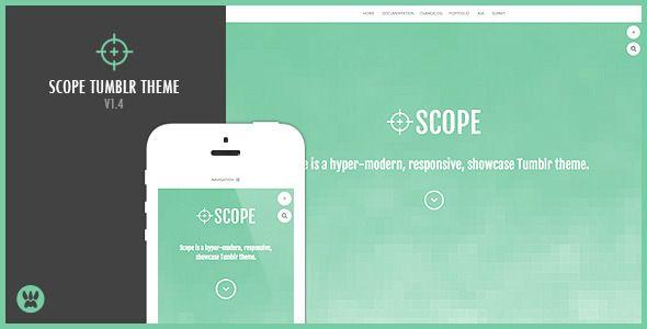 Scope - A Responsive Showcase Tumblr Theme
