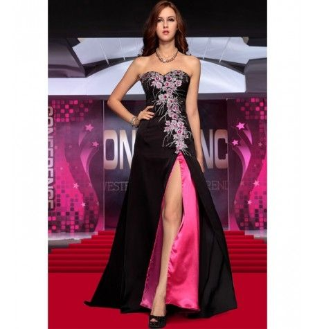 Satin Evening Dress by Belonda