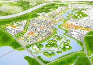 UrbanLab's masterplan for Yangming Archipelago in Hunan province, China
