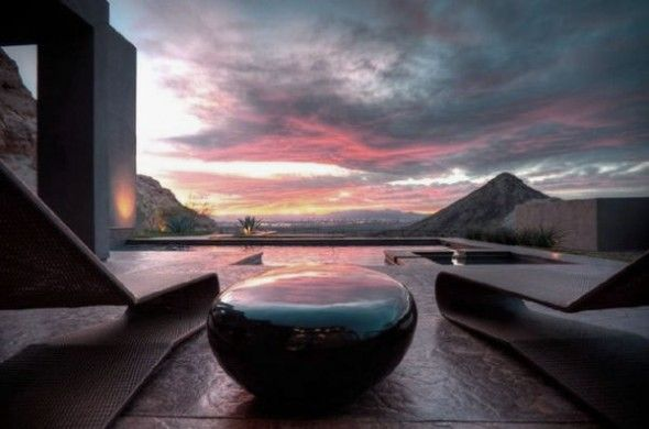 Inspired by Natural Rock: Felted Wool Stones and Stylish Decor: Stunning Patio Design Ideas with an Incredible View and The Sleek Black River Stone Table