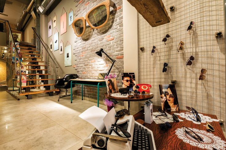 Mix & match aesthetics | optical store in Patra, Greece | contemporary design combined with handmade crafts and vintage elements | designed by Vasilis Arvanitis