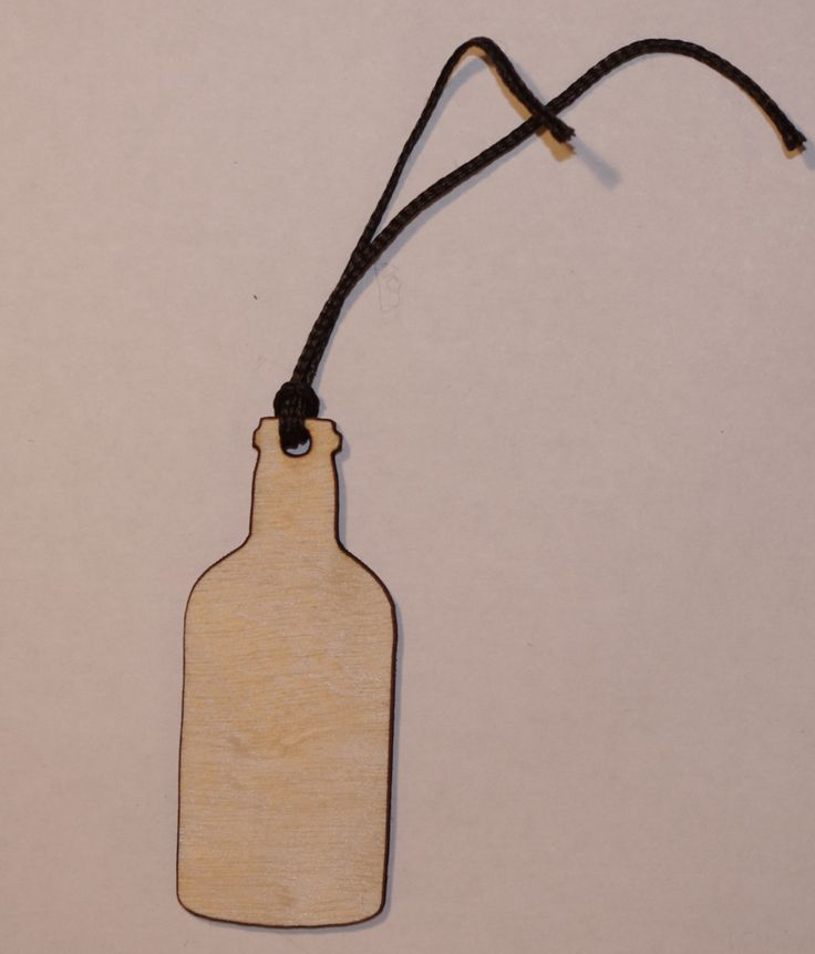 Stubby Bottle Gift Tag