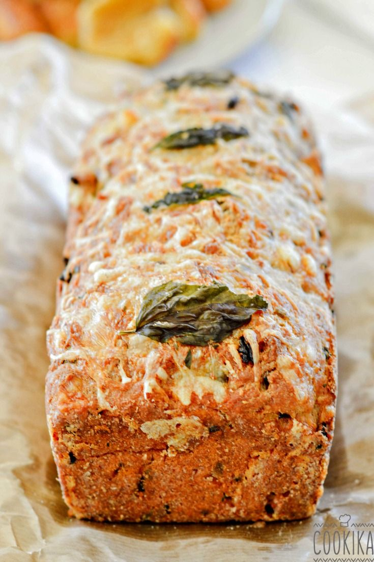 Cake with Sundried Tomatoes and Fresh Basil