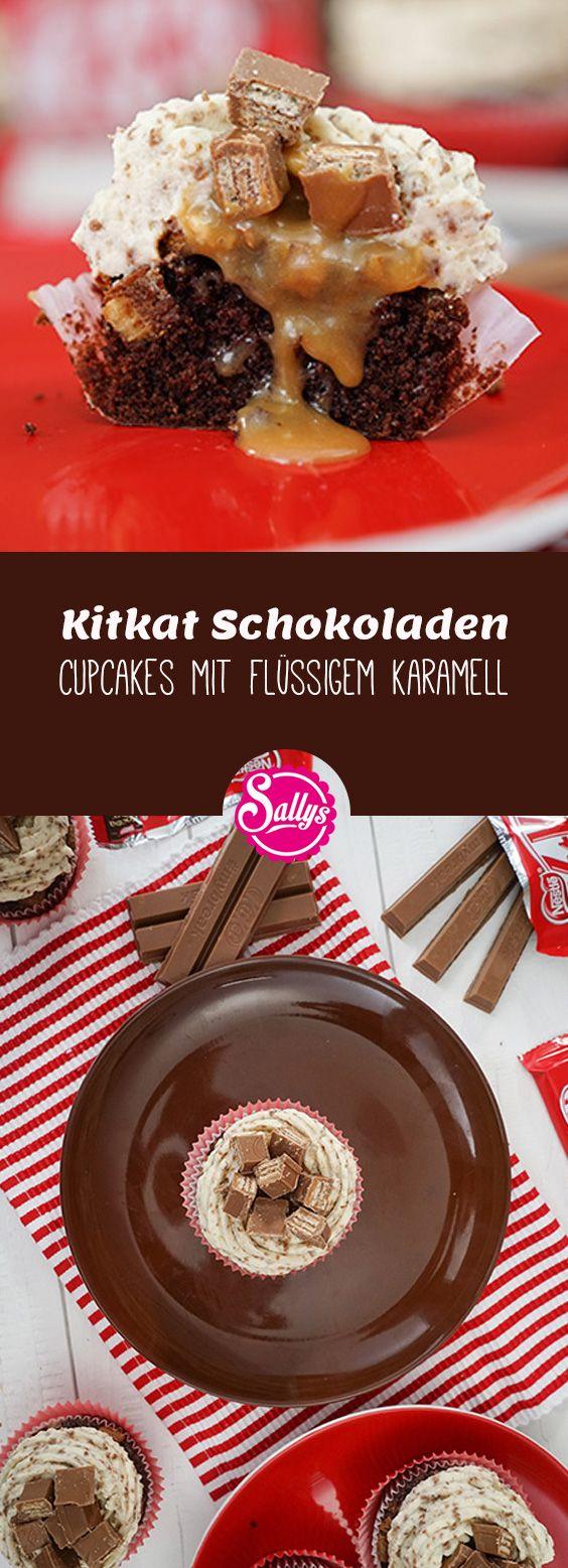 Cupcakes aus echten Kitkats mit flüssigem Karamell! Mhmmm!