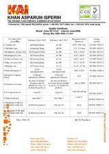 Certificat de calitate KAI PROGRES CERAMICA