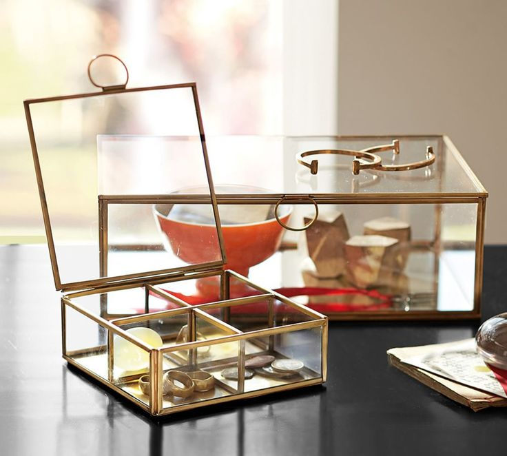 Callie Glass Boxes $64 divided box