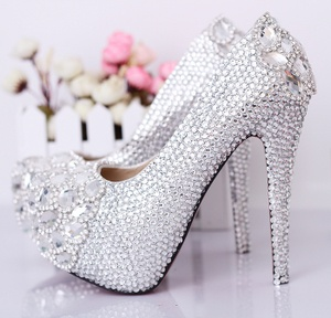 $110.00 Beloved Glass Slipper Wedding Shoes Rhinestone Shoes Ultra High  With Nightclubs Shoes Wedding Shoes