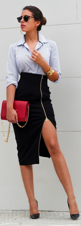 Sexy High Waist Pencil Skirt Fall Inspo by 1sillaparamibolso