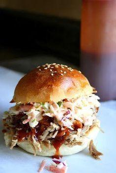 Pulled pork burger recipe