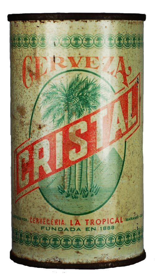 1950s Cuba Cerveza Cristal Beer Can - Havana Collectibles