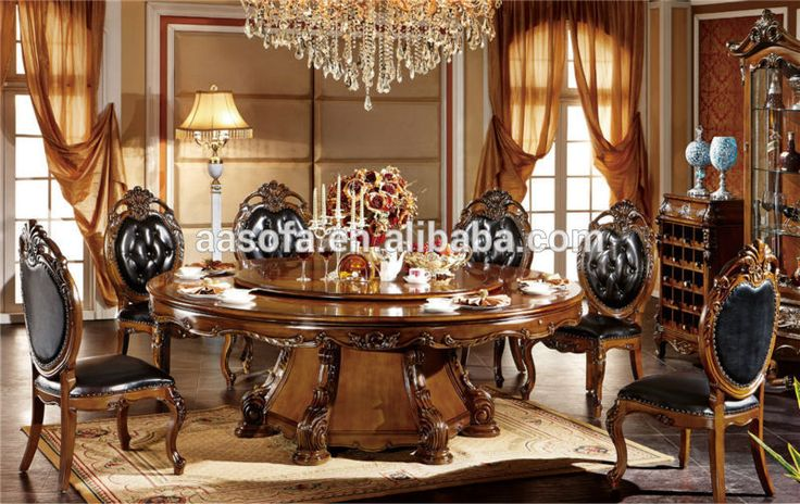 Muebles cl sicos de madera de lujo comedor juego de for Muebles comedor madera