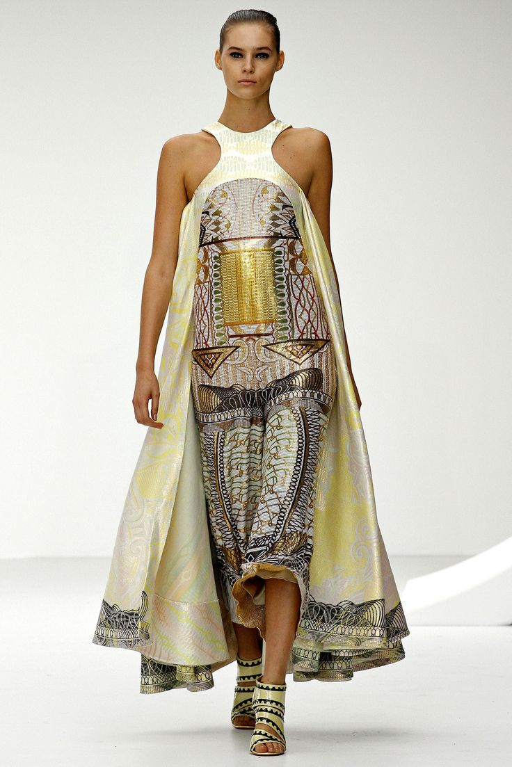 Egyptian inspired modern day style - Mary Katrantzou Spring Summer 2013 Ready To Wear Collection London Fashion Week Find This Pin And More On Egyptian Inspired Style
