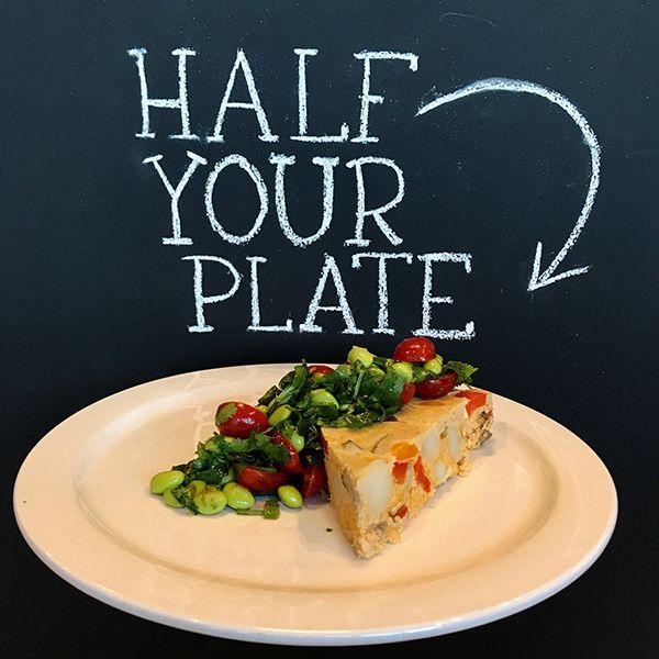 Southwestern Potato Frittata with Edamame Salsa Salad - Half Your Plate