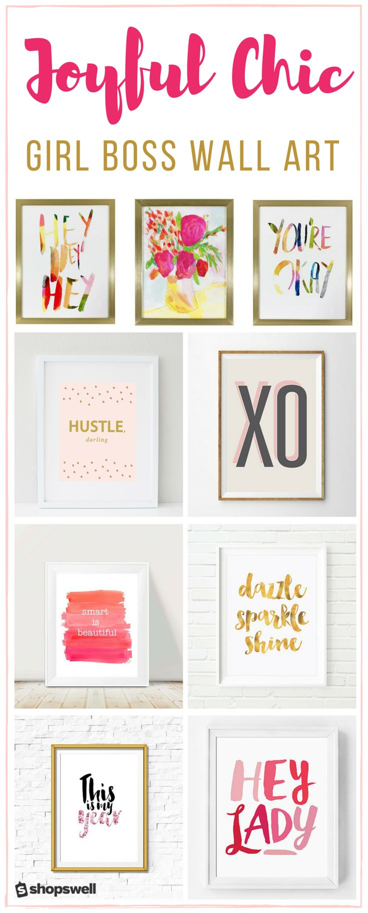 Design an office space that helps you eat, create, sleep, and repeat with these chic wall art prints. Perfect for the Girl Boss!