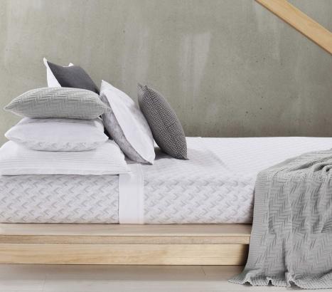 Designers Choice   Anderson Grey Flannelette Sheet Set #bedlinen