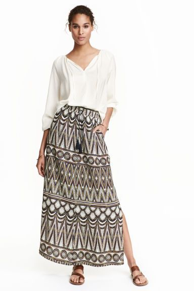 Crinkled skirt   H&M