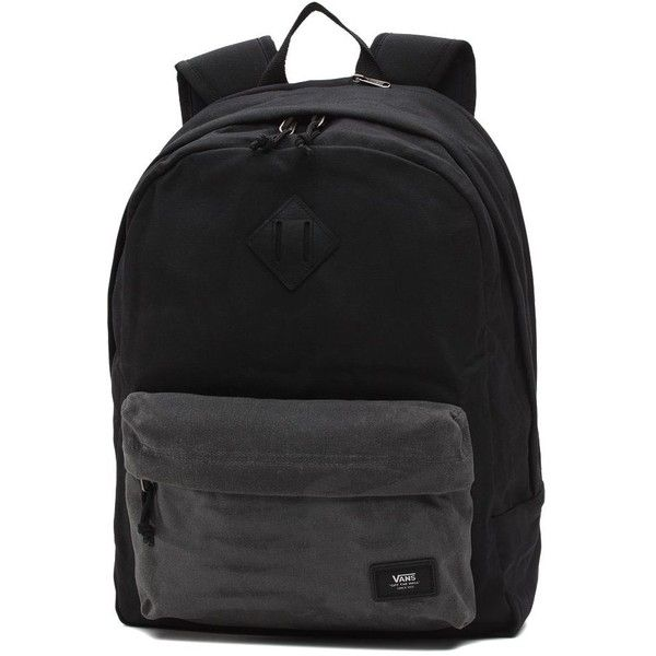 Vans Old Skool Plus Backpack ($55) ❤ liked on Polyvore featuring men's fashion, men's bags, men's backpacks, bags and black