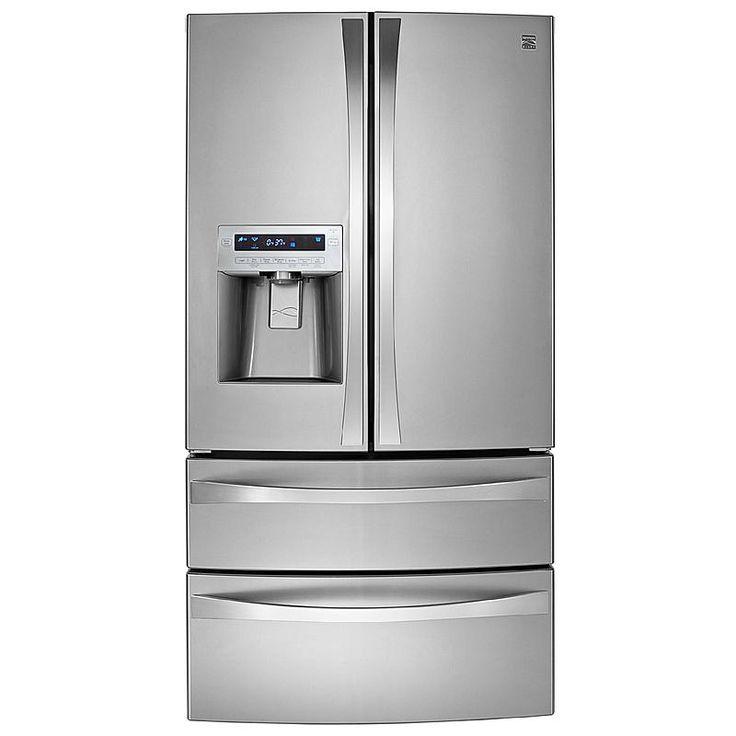 kenmore elite mini fridge. kenmore elite 31.0 cu. ft. dual-freezer french-door bottom-freezer mini fridge e