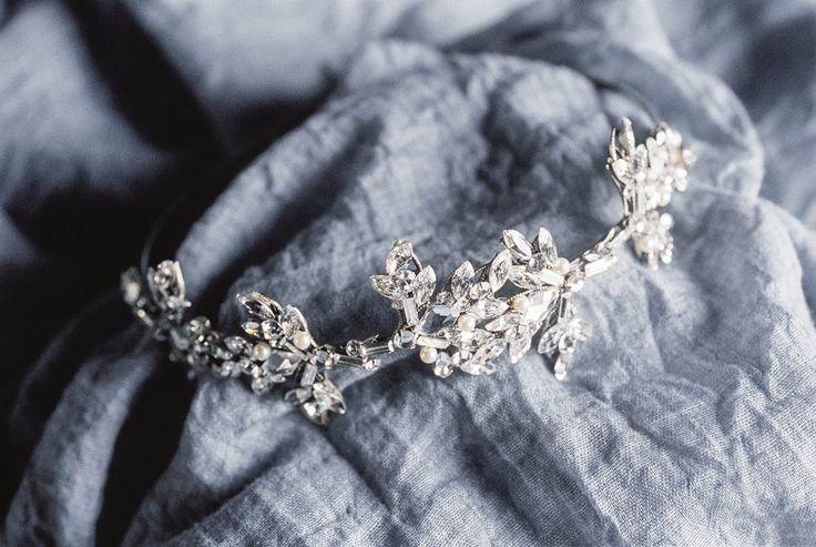 Modern Vintage Silver Bridal Crown