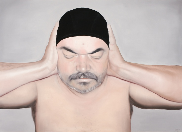 Fehér László,Self-Portrait with Eyes Closed, 2008