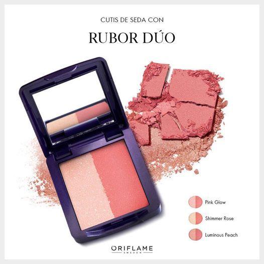 Para disimular un rostro cansado, es vital un color saludable en las mejillas ¡como el que deja el Rubor Dúo de The ONE que viene con iluminador incorporado! #Tip #OriflameTheOne