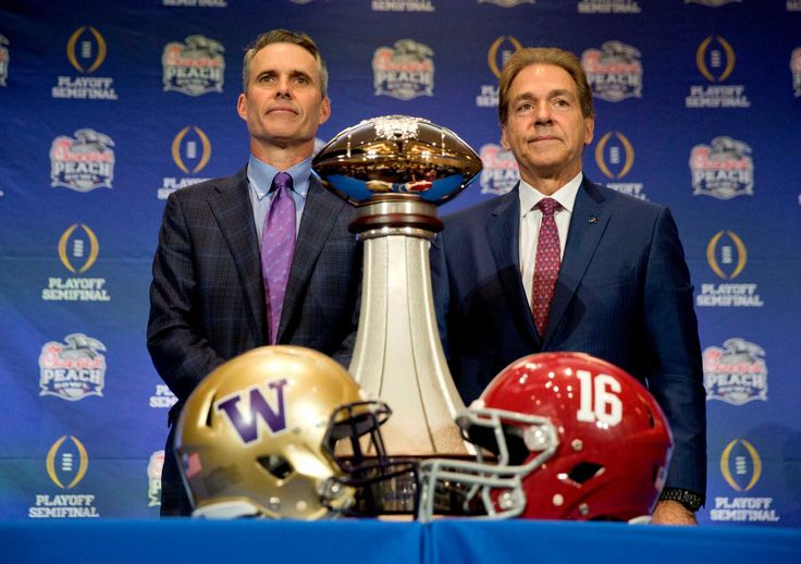 The Peach Bowl features one of college football's greatest dynasties against the definite outsider in this season's College Football Playoff.  The top-ranked Crimson Tide (13-0) is going for its second straight national title and fifth in the last nine seasons under coach Nick Saban .  The Huskies wandered in the wilderness for much of the past two decades, playing in only one major bowl since Don James retired after the 1992 season and slogging through a stretch of six straight losing…