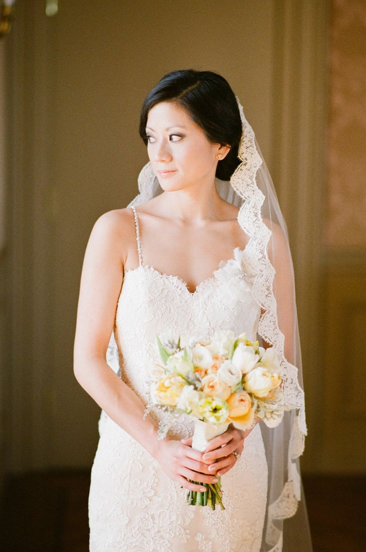Such a gorgeous veil!  Read more - http://www.stylemepretty.com/2013/08/20/oheka-castle-wedding-from-robert-kathleen-photographers/