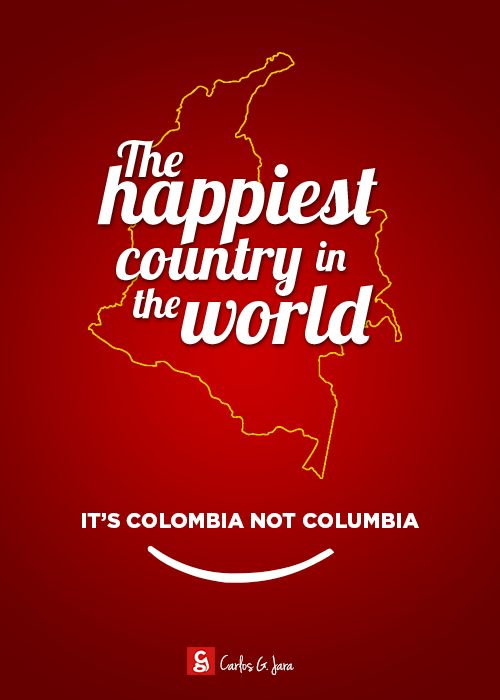 Colombia, the happiest country in the world