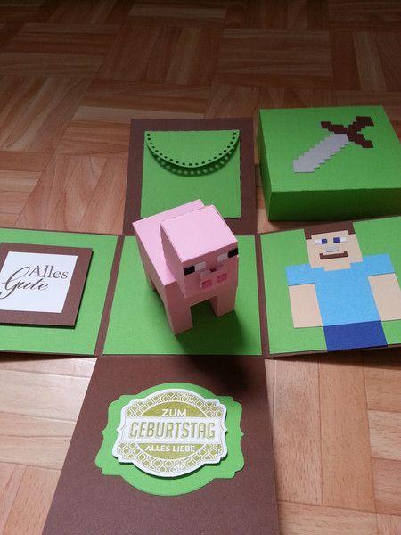 Weiteres - Minecraft Explosionsbox zum Geburtstag - ein Designerstück von SteffisBastellounge bei DaWanda