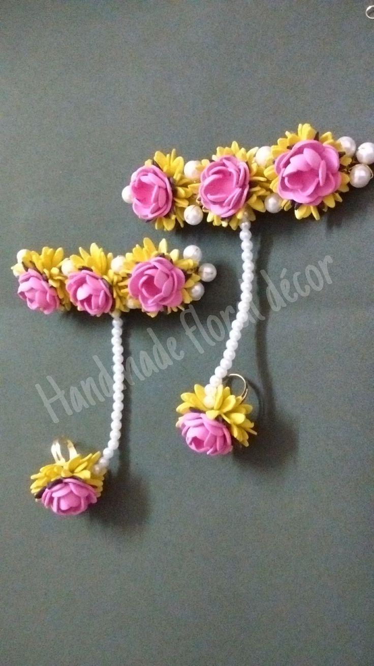 Floral jewellery wwwfacebookcomhandmadefloraldecor 56 best Foam flowersMy