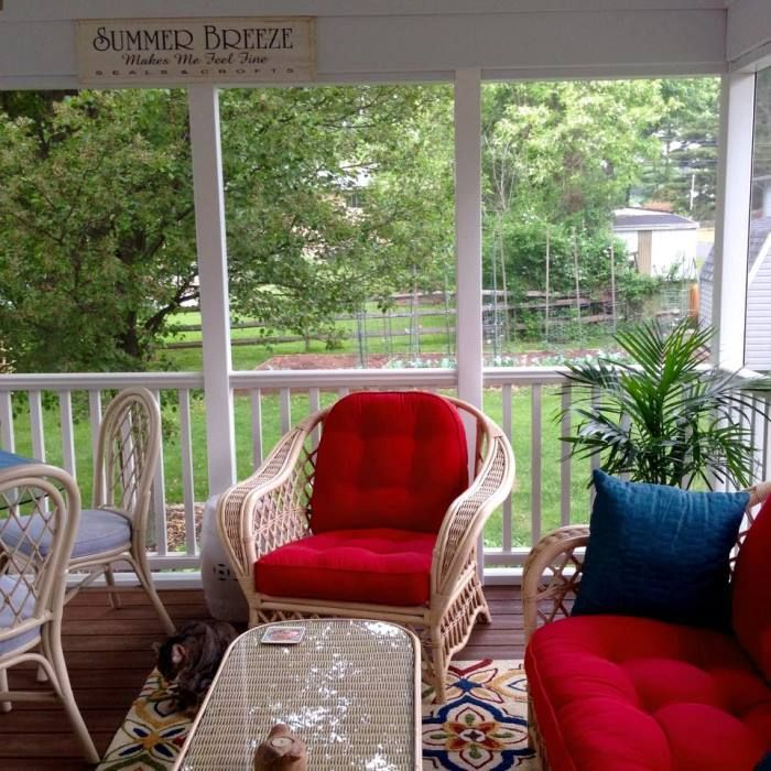 A screened porch addition for dining relaxing enjoying for 3 season porch furniture