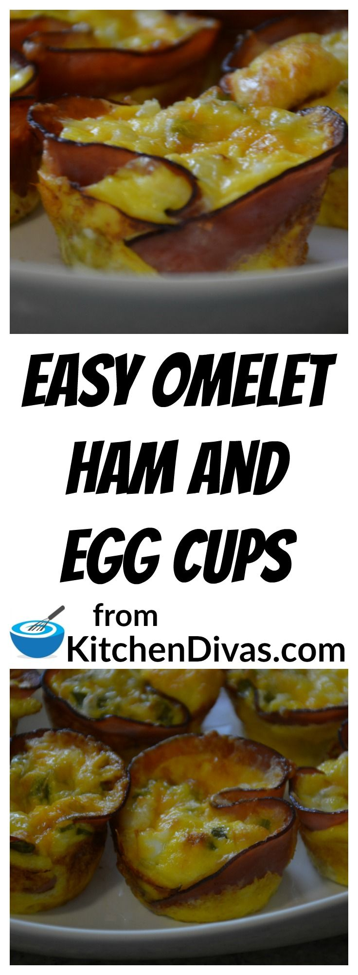 Easy Omelet Ham and Egg Cups are an easy, quick and tasty way to make breakfast or brunch for a few or many.    Perfect for any occasion!