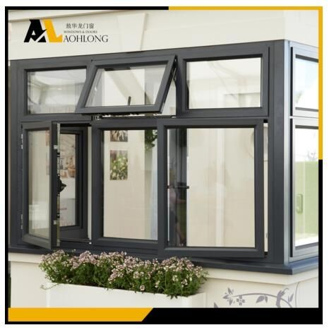 This is an integrated design of doors and windows, being awning windows above the swing door, usually used in internal doors, and sometimes also for external doors. However this is a good design, can be used in commercial buildings, schools, hospitals, hotels, etc., can also be used for home.