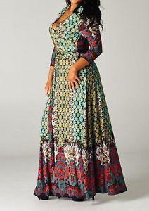 Colorful plus size maxi dresses