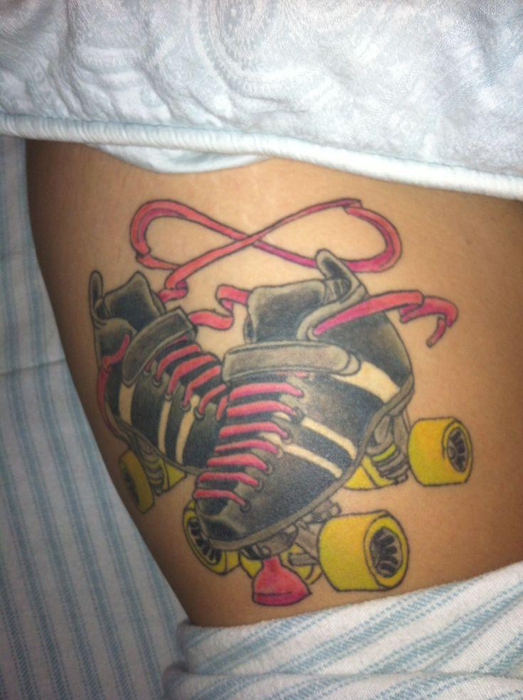 My girlfriends favorite tattoo she got for roller derby.