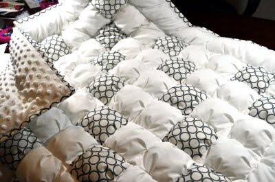 Modernized puff quilt - biscuit quilt - bubble quilt